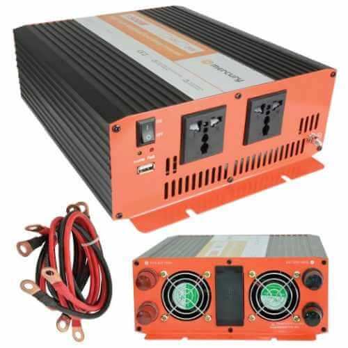 SSI008UK - SSI009UK - Power Inverter, 1500W Soft Start 12-24Vdc to 230Vac