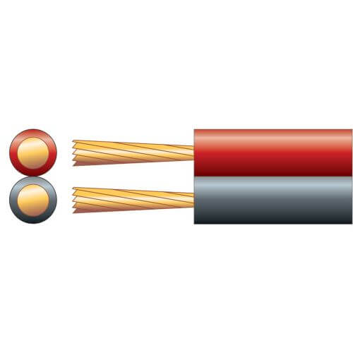 Power/Speaker Cable, Figure 8, 2.5A, Red/Black, 100m Reel