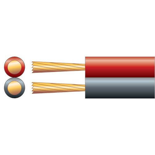Power/Speaker Cable, Figure 8, 25A, Red/Black, 100m Reel