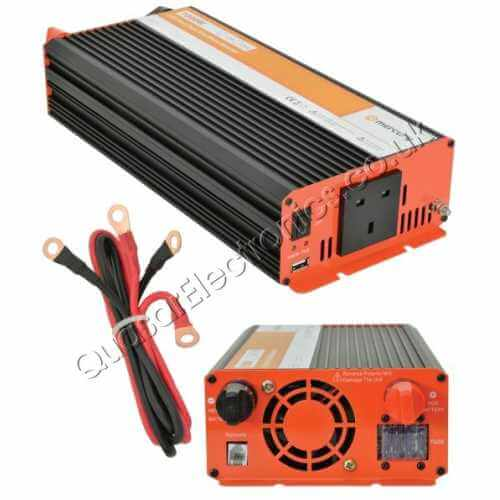 SWI104UK - 1000W Pure Sine Wave Power Inverter, Soft Start 12Vdc to 230Vac