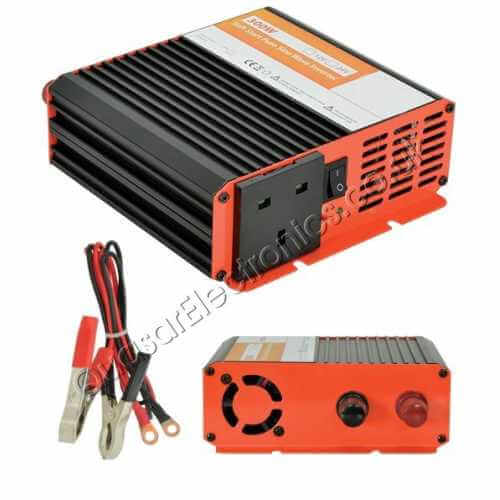 SWI100UK - 300W Pure Sine Wave Power Inverter, Soft Start 12Vdc to 230Vac