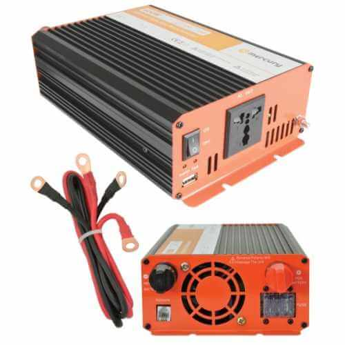 600W Pure Sine Wave Power Inverter, Soft Start 12Vdc to 230Vac
