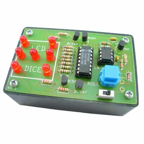 Super LED Electronic Dice Kit with Slowdown (With Box)