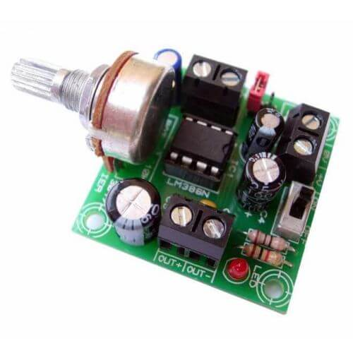 AS3017KT - 1W Mono Audio Amplifier with Volume Control (LM386N)