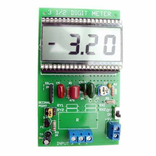 3 1/2 Digit LCD General Purpose Panel Meter (7106 IC)