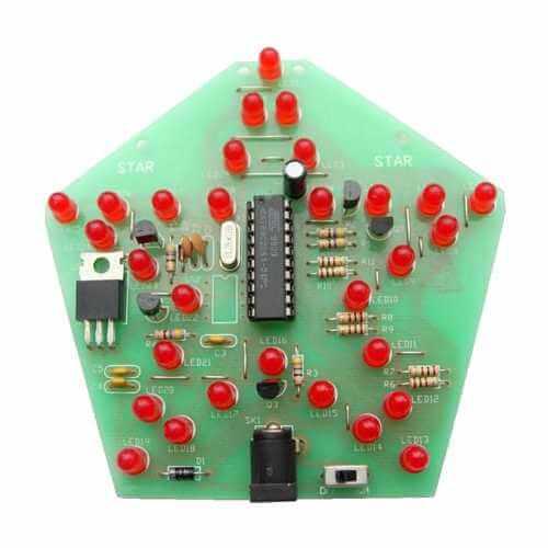 Hi-Tech Microcontroller LED Star Electronic Kit