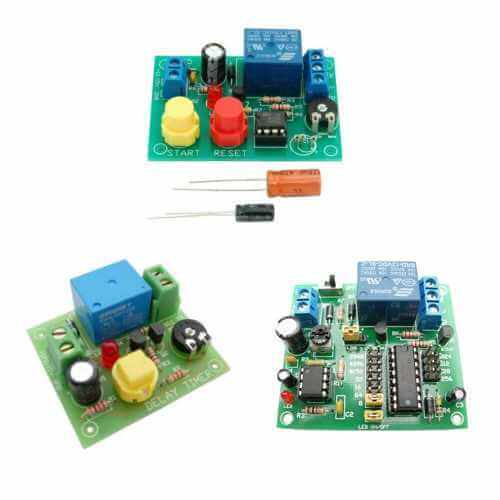 3-in-1 Delay Timer Circuits Educational Kit