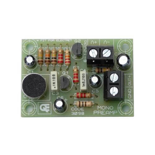 Mono Preamplifier Board with Electret MIC