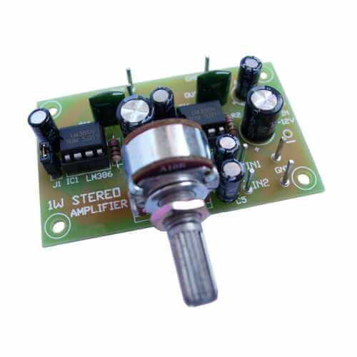 AS3115v2KT - 1W + 1W Stereo Amplifier (LM386 x 2)