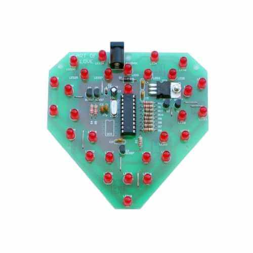 Hi-Tech Microcontroller LED Heart Electronic Kit