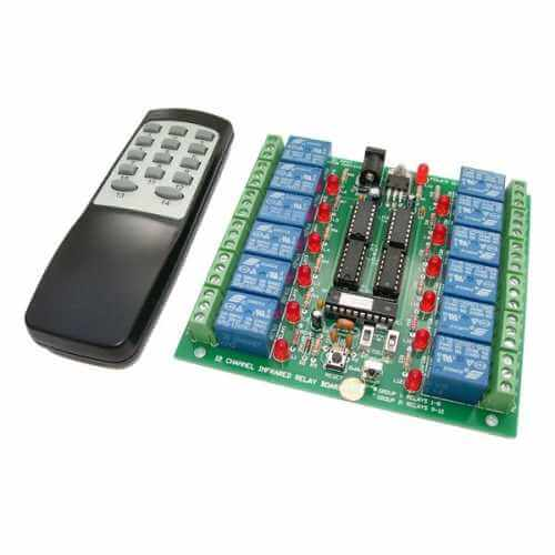 12-Channel IR Relay Board with RC