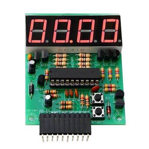 4 Digit Stopwatch Timer Board with Pause (99H 59M 59.99S)