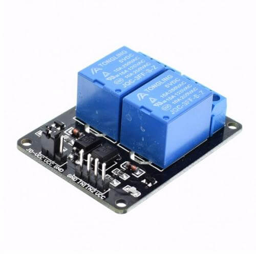 AS8802 - 2 Channel 5V Relay Expansion Board Module for Arduino