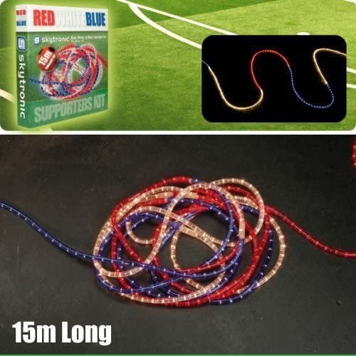 155.133UK - Red White & Blue Rope Light Tube Kit, 15m Long
