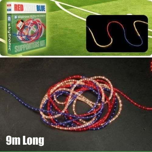 Red White & Blue Rope Light Tube Kit, 9m Long