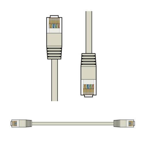507.105UK,  - RJ45 Network Patch Cables