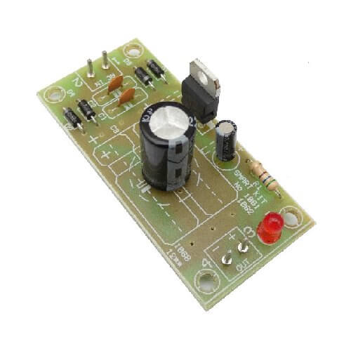 AS1061KT - 12Vdc, 0.5A Stabilised Regulated Power Supply