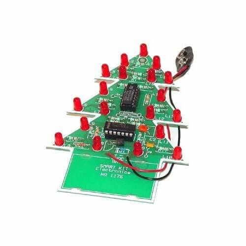 Flashing LED Christmas Tree Kit