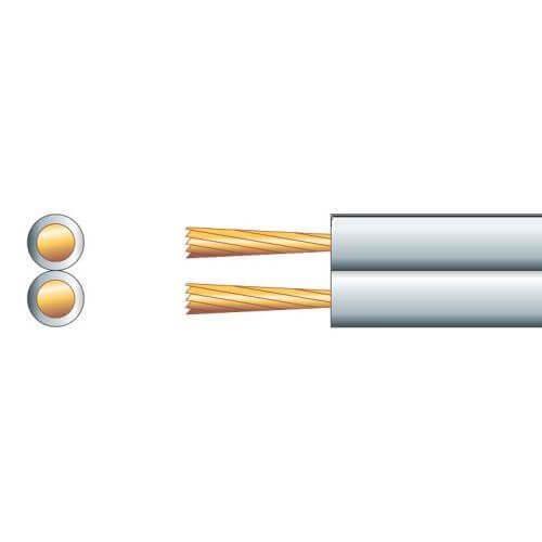 Speaker Cable, Economy Figure 8, 2.5A, White/Black, 100m Reel