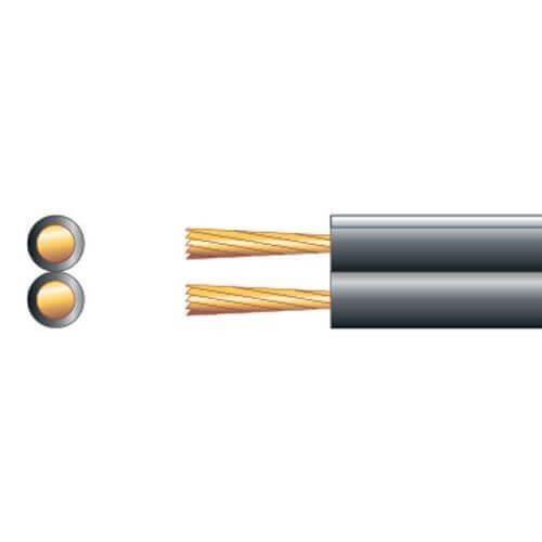 Speaker Cable, Economy Figure 8, 25A, Black/White, 100m Reel