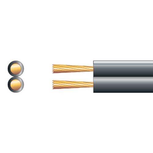 Speaker Cable, Heavy Duty Figure 8, 25A, Black, 100m Reel