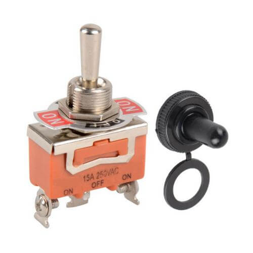 785.663UK - Toggle Switch with Indicator Plate, 1x On\Off/On SPDT, 250Vac, 15A
