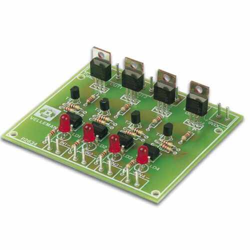 Velleman K2634 - Quad Triac Switch Card Electronic Kit