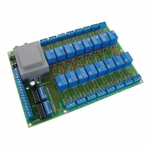 Universal Relay Card (16 Relays) Electronic Kit (110/230Vac)