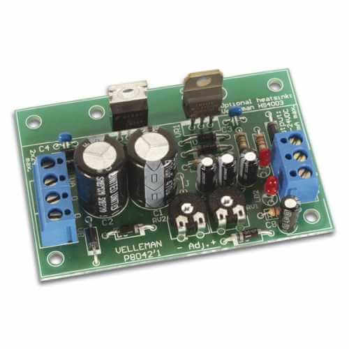 Symmetric +/- 1 to 24V, 1A Power Supply Electronic Kit
