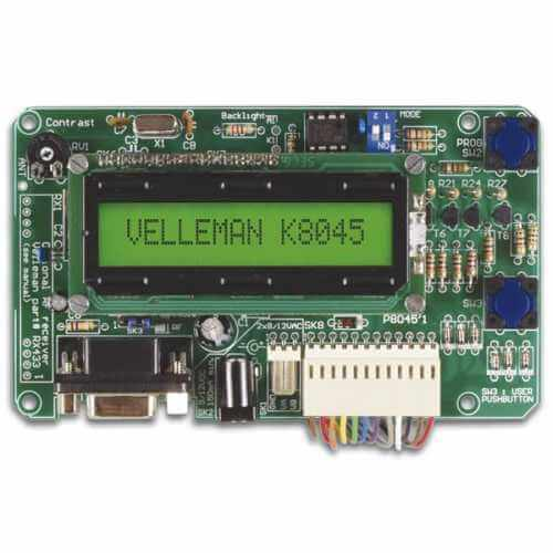 Velleman K8045 - Programmable LCD Message Board Kit (Serial Interface, 8 Inputs)