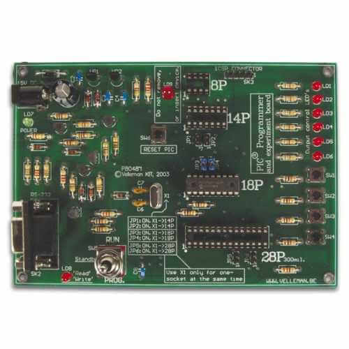 PIC Programmer and Experimenter Board Electronic Kit