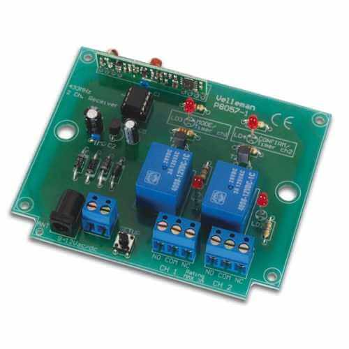 2-Channel RF Remote Relay Receiver With Random Code Electronic Kit