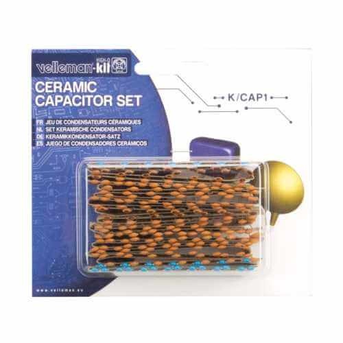 Velleman K/CAP1 - 224-Piece Ceramic Capacitor Set