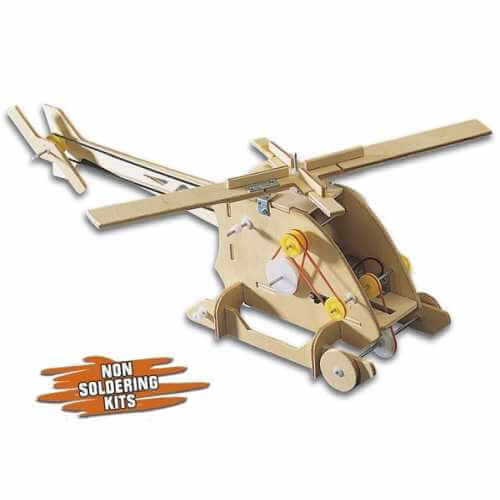 C21-604KT - Coptermech Mechanical Motorised Wooden Kit