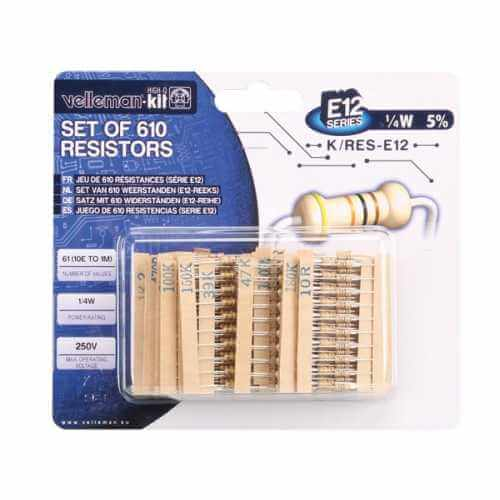 Velleman K/RES-E12 - Set Of 610 Resistors (E12-Series)