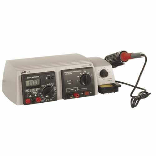3-in-1 LAB Unit (Multimeter - Power Supply - Soldering Iron)