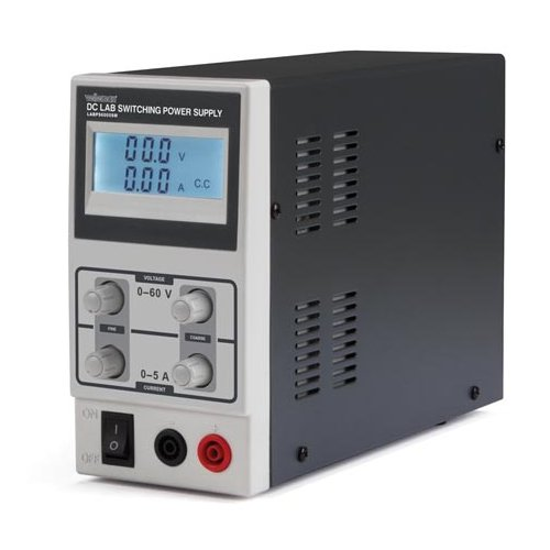 Velleman LABPS6005SMUK - Regulated Switching Power Supply Variable 0-60V/0-5A Dual LCD Display