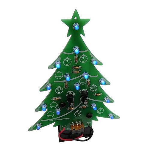 Velleman MK100B - Blue LED Electronic Christmas Tree Kit