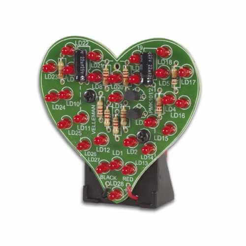 Flashing LED Sweetheart Electronic Kit