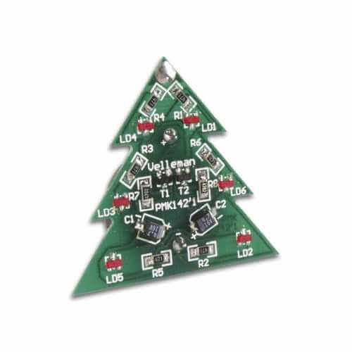 SMD Xmas Tree Badge Electronic Kit