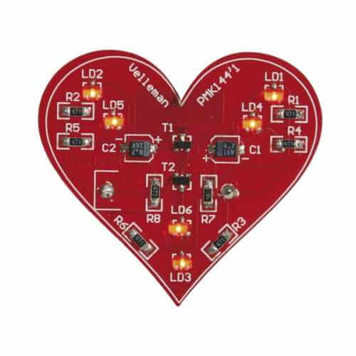 Velleman MK144 - Flashing Heart Badge Electronic Kit