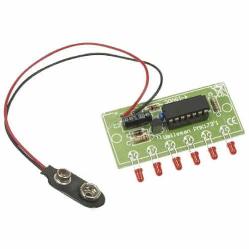 Velleman MK173 - Mini 6-LED Chaser Electronic Kit