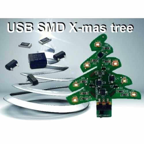 USB SMD Xmas Tree Electronic Kit
