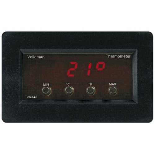 Velleman VM145 - Digital Panel Thermometer with Min/Max Read Out Module