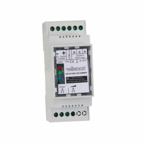 RGB 12-24V LED Dimmer Module for DIN RAIL