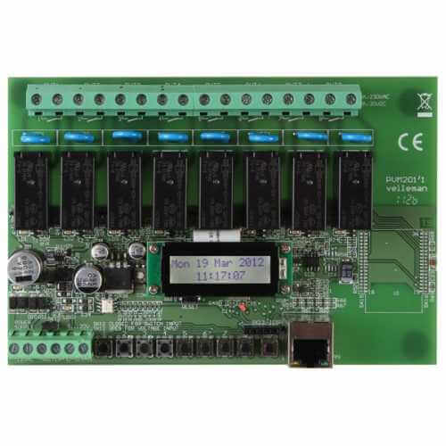 Velleman VM201 - 8-Channel Ethernet Relay Card Module
