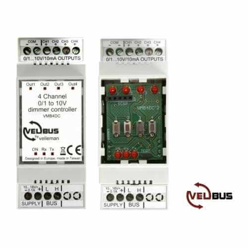 Velbus VMB4DC - 4 Channel 0-10V DC Dimmer Controller Module